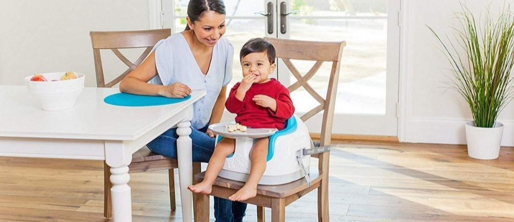 Badabulle Pliable Compact /& Evolutif Gris Rehausseur de Chaise Enfant